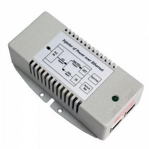 110/220VAC IN, Qty 2 25W 802.3af/at ports OUT, Dual PoE Inserter,Surge Protected, (TP-POE-HP-48Dx2)