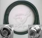 25 Foot N Male to N Female Times Microwave LMR 400 Coax