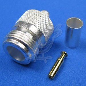 N Female Crimp Connector for LMR 240, RFC240,  Group X Coax