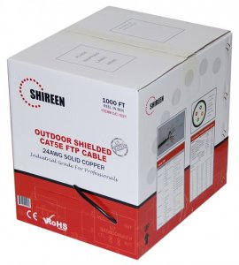 DC-1021 Shielded Cat5e FTP Cable 1,000 Foot Reel-in-Box