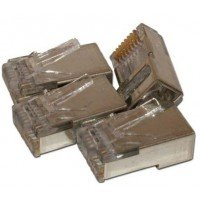 RJ45 Shielded Connector for Cat6 (Pack of 10)